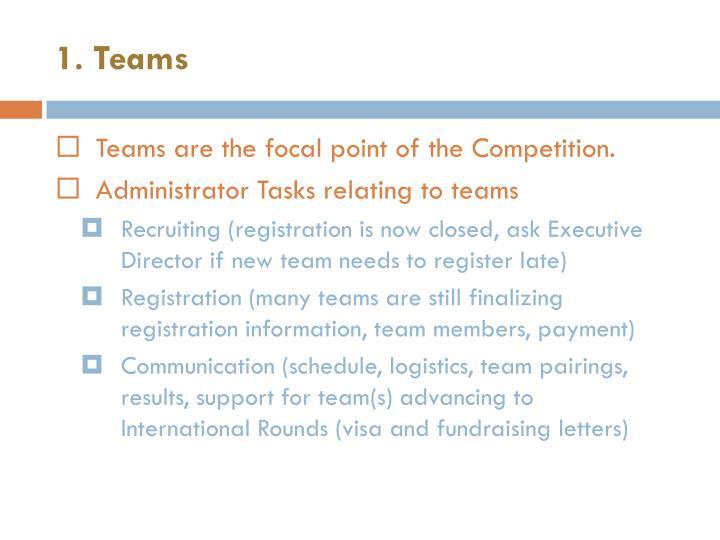 1. Teams