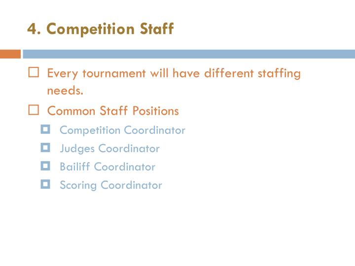 4. Competition Staff