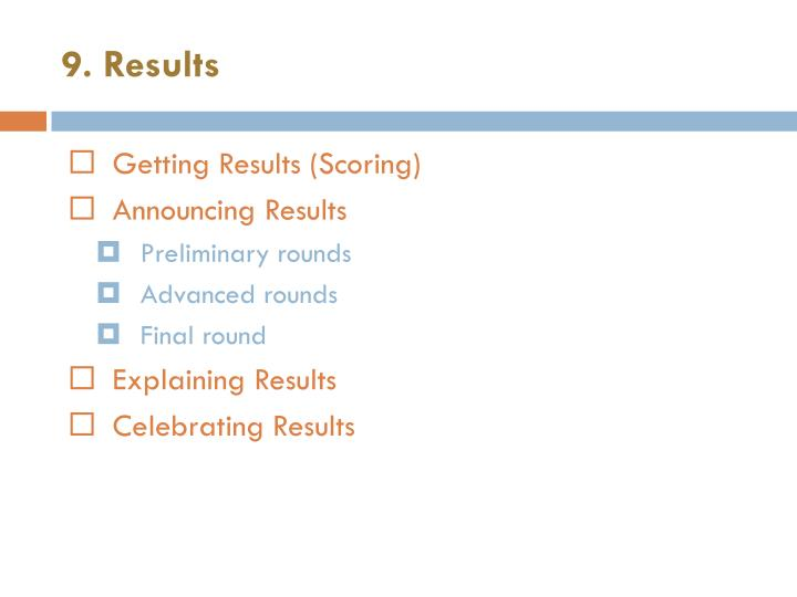 9. Results