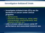 investigator initiated trials