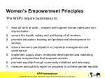 women s empowerment principles