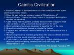 cainitic civilization