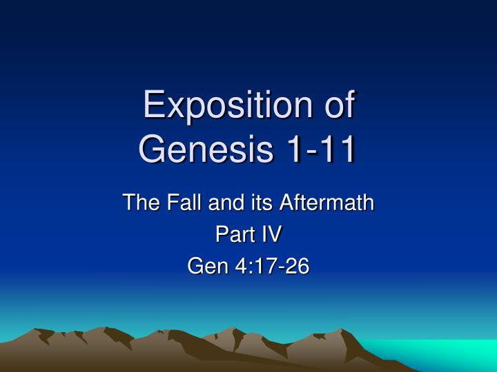 exposition of genesis 1 11