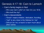 genesis 4 17 18 cain to lamech