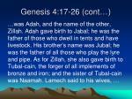 genesis 4 17 26 cont