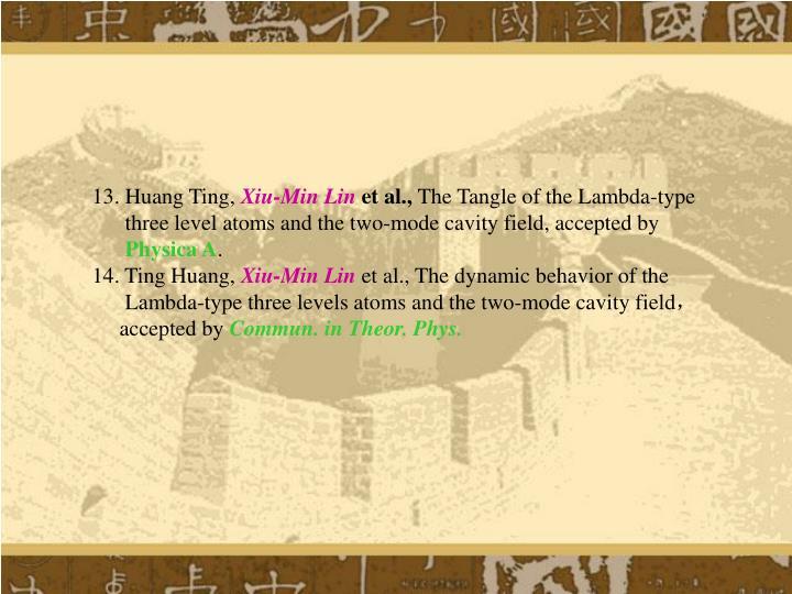 13. Huang Ting,