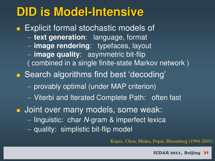 DID is Model-Intensive