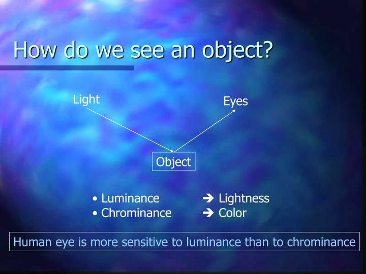 How do we see an object?