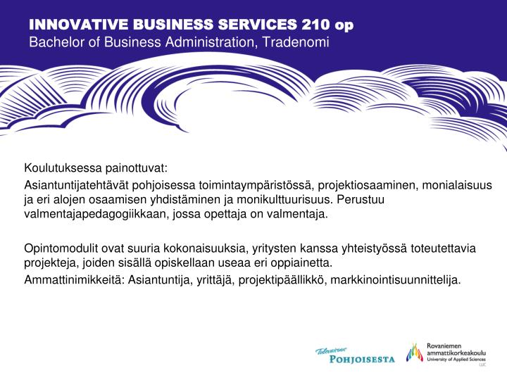INNOVATIVE BUSINESS SERVICES