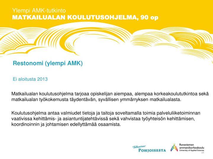 Ylempi AMK-tutkinto