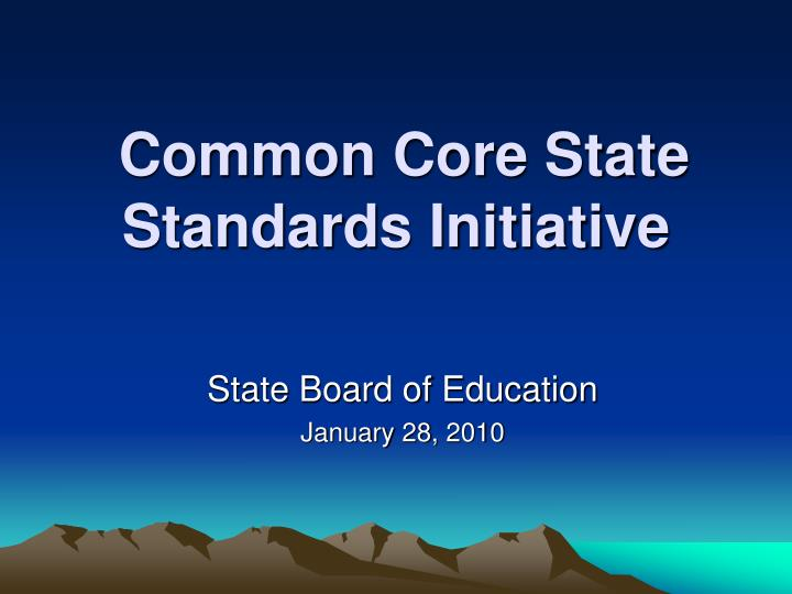 common core state standards initiative n.