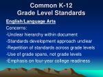 common k 12 grade level standards6