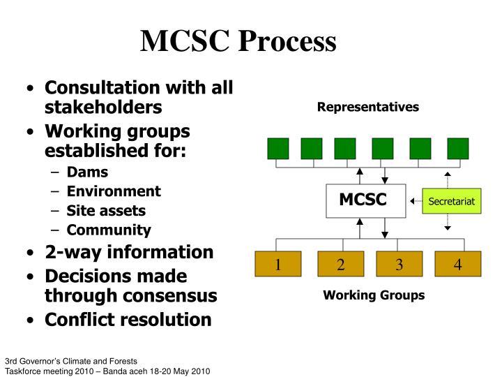 MCSC Process