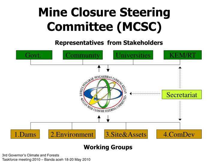 Mine Closure Steering Committee (MCSC)