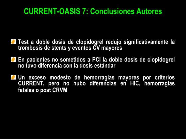 CURRENT-OASIS 7: Conclusiones Autores