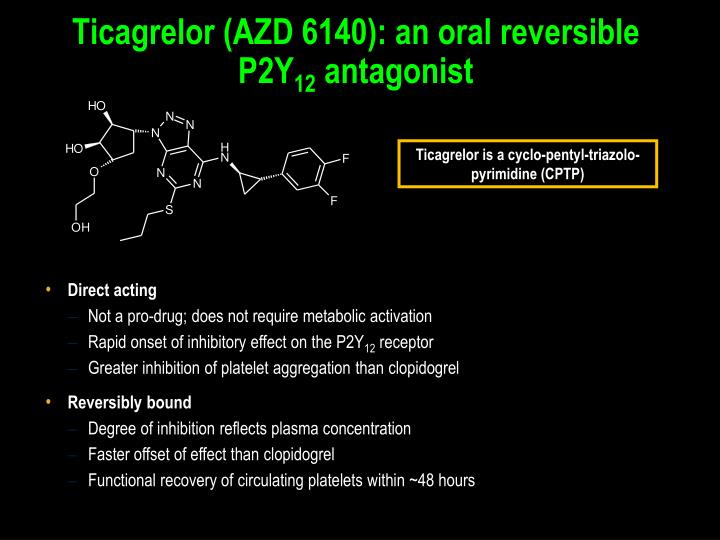 Ticagrelor (AZD 6140): an oral reversible