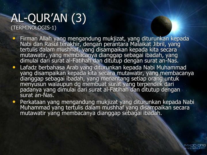 Al qur an 3 terminologis 1