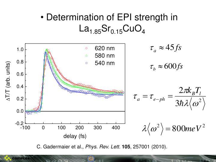 Determination of EPI strength in La