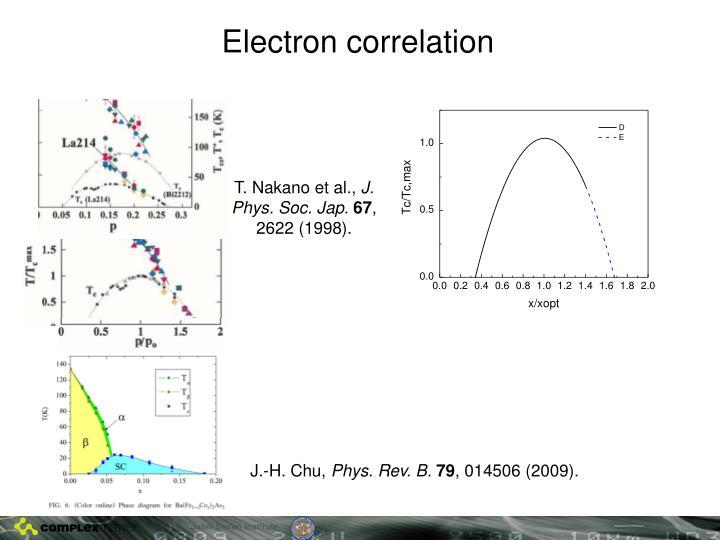 Electron correlation