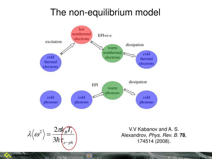 The non-equilibrium model