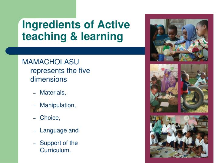 Ingredients of Active teaching & learning