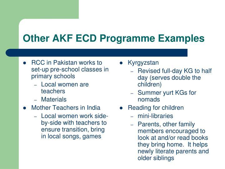 RCC in Pakistan works to set-up pre-school classes in primary schools