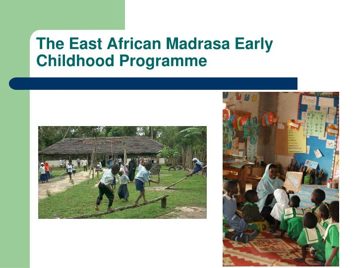 The East African Madrasa Early Childhood Programme
