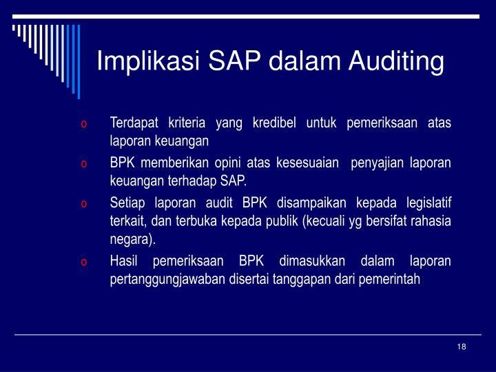 Implikasi SAP dalam Auditing