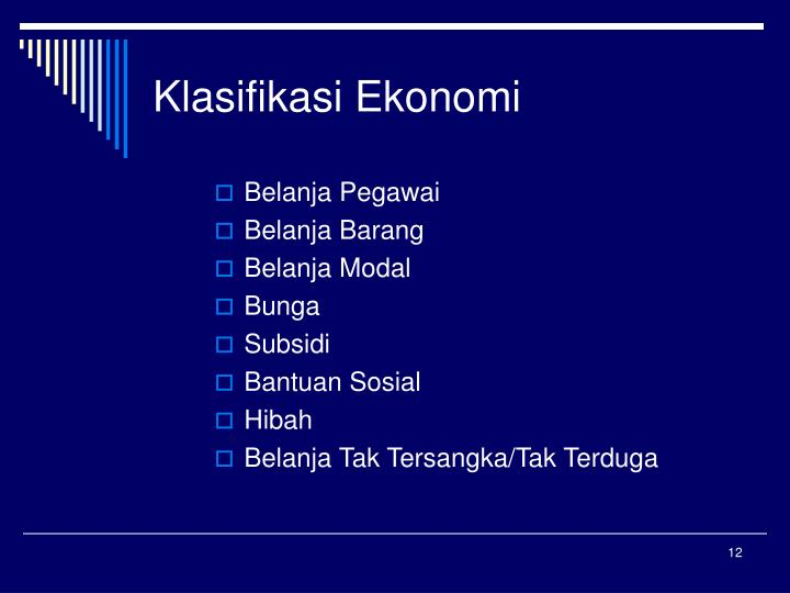Klasifikasi Ekonomi