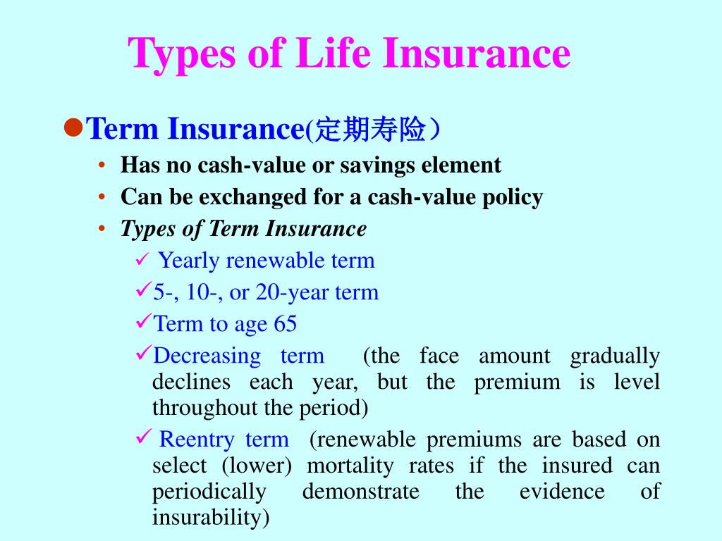 Image result for 10 type of life insurance