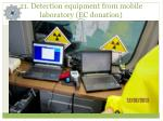 2 1 detection equipment from mobile laboratory ec donation