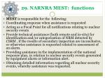 2 9 narnra mest functions