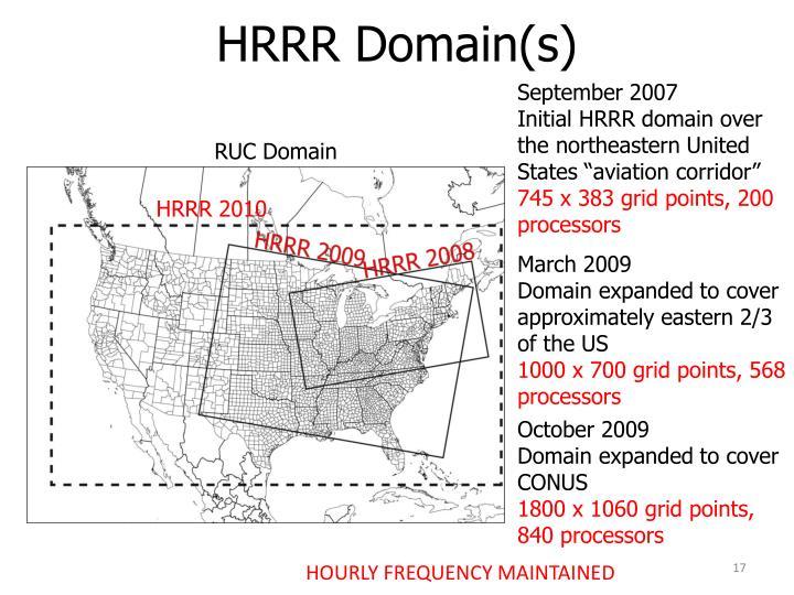 HRRR Domain(s)