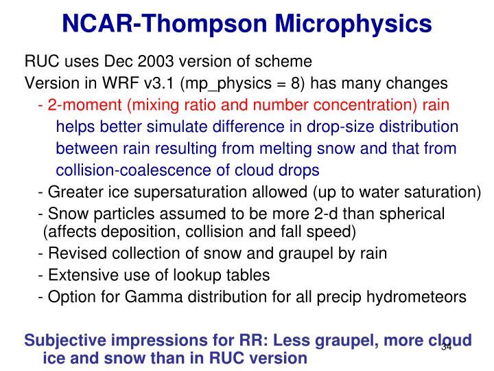 NCAR-Thompson Microphysics