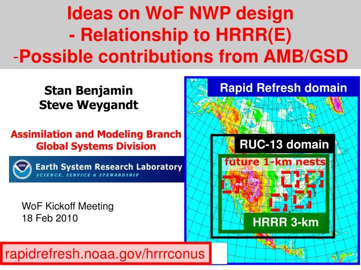 Ideas on WoF NWP design