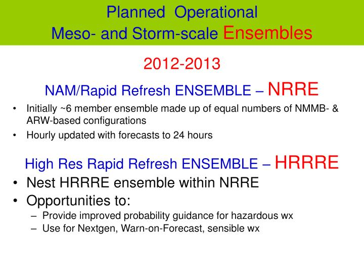 Planned  Operational