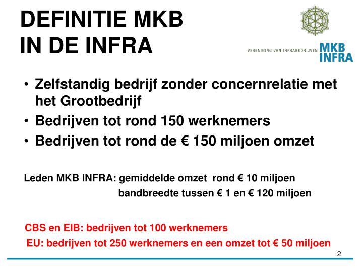 Definitie mkb in de infra