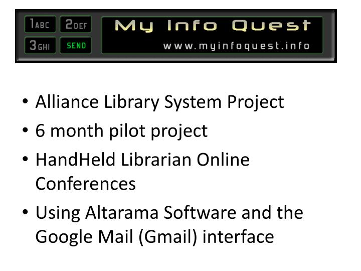 Alliance Library System Project