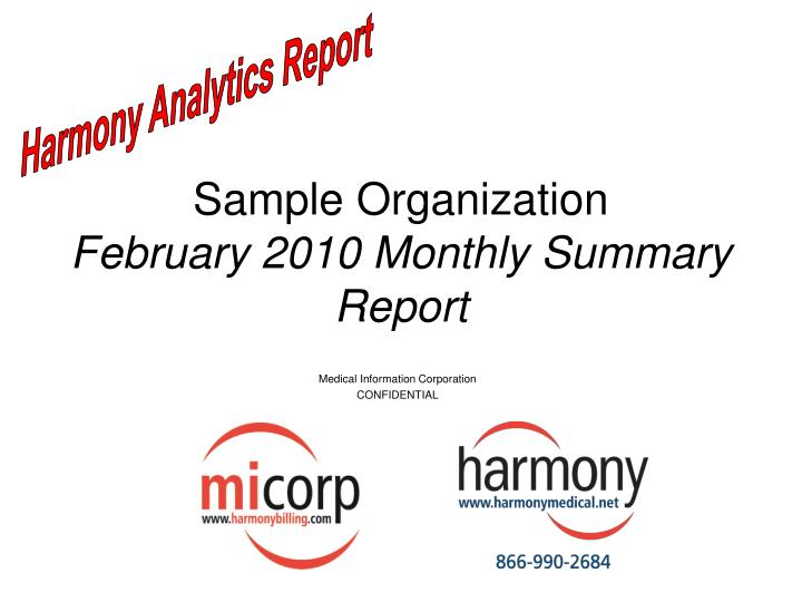 sample organization february 2010 monthly summary report n.