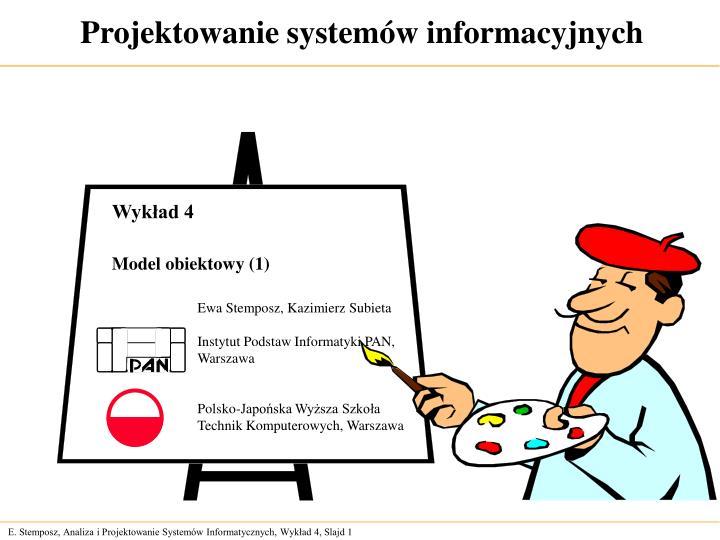 projektowanie system w informacyjnych n.