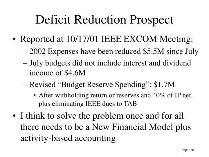 Deficit Reduction Prospect
