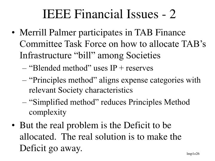IEEE Financial Issues - 2