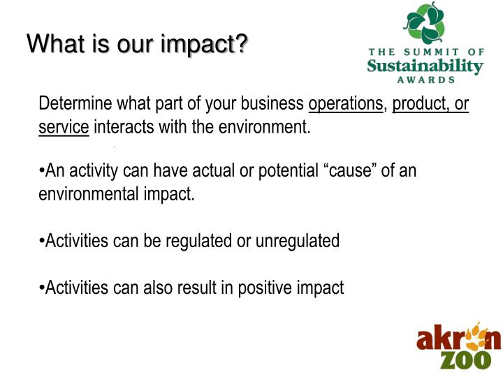 What is our impact?