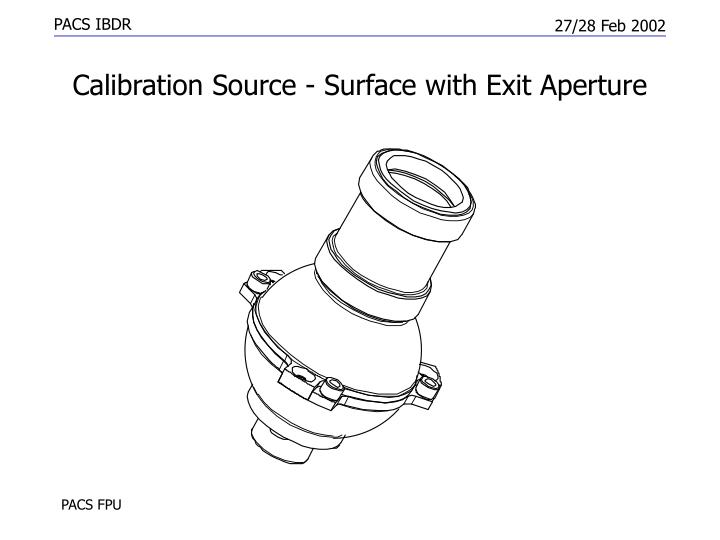 Calibration Source - Surface with Exit Aperture