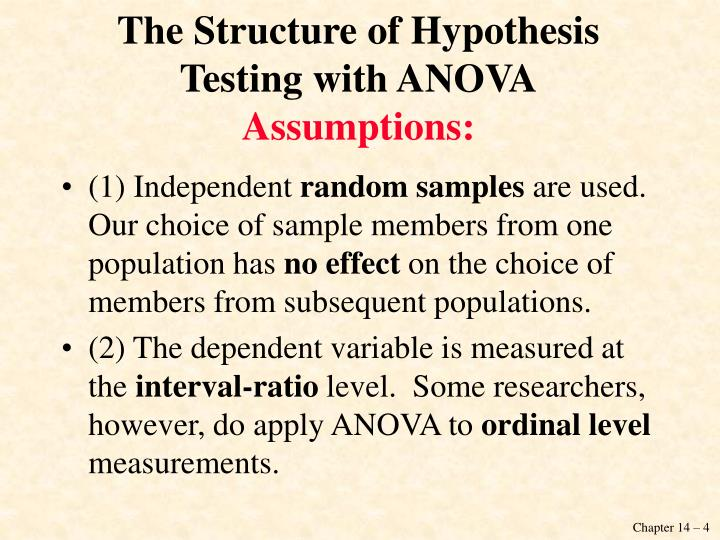 The Structure of Hypothesis Testing with ANOVA