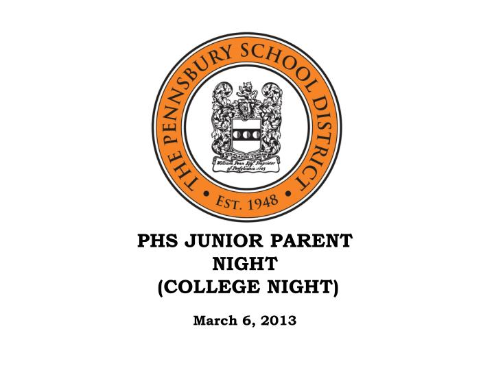 phs junior parent night college night n.