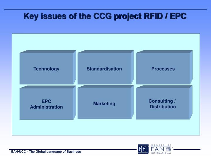 Key issues of the CCG project RFID / EPC