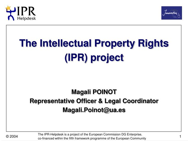 the two categories of the intellectual property rights Intellectual property is divided into two categories industrial property from oie 3460 at worcester polytechnic institute.