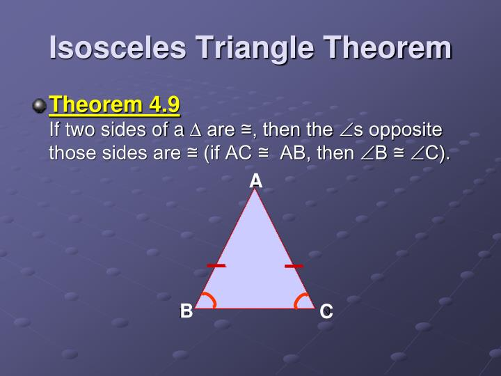 Isosceles Triangle Theorem