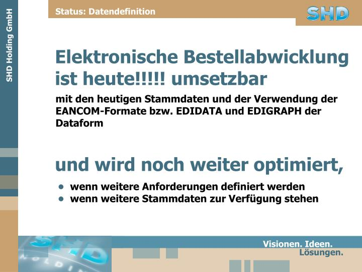 Status: Datendefinition